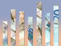 χρήματα διαγραμμάτων Στοκ Εικόνες