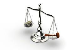 χρήματα δικαιοσύνης Στοκ Φωτογραφία