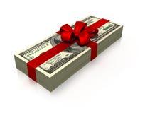 χρήματα δώρων Στοκ εικόνες με δικαίωμα ελεύθερης χρήσης