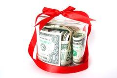 χρήματα δώρων Στοκ Φωτογραφίες