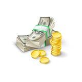 Χρήματα εγγράφου, σύνολο Ελεύθερη απεικόνιση δικαιώματος