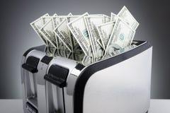 χρήματα εγκαυμάτων στοκ φωτογραφίες