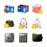χρήματα εικονιδίων Στοκ Φωτογραφίες