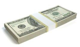 χρήματα εισοδηματικής αύξησης που εμφανίζουν στοίβα Στοκ Φωτογραφίες