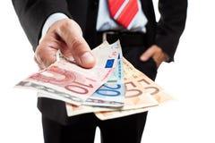 χρήματα εκμετάλλευσης επιχειρηματιών δεσμών Στοκ Εικόνες