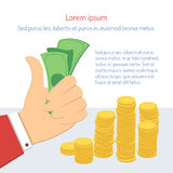 Χρήματα εκμετάλλευσης επιχειρηματιών Απεικόνιση αποθεμάτων