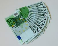 Χρήματα, ευρώ, σκάφος, μετρητά, λογαριασμοί Στοκ Εικόνες