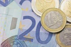 Χρήματα ευρώ Στοκ Εικόνες
