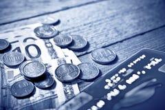 Χρήματα ευρώ Στοκ εικόνες με δικαίωμα ελεύθερης χρήσης