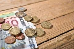 Χρήματα ευρώ Στοκ Φωτογραφίες
