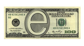 χρήματα ε Στοκ Εικόνες