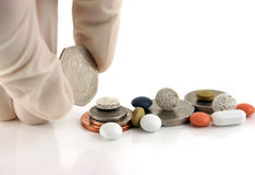 χρήματα ιατρικής Στοκ φωτογραφία με δικαίωμα ελεύθερης χρήσης