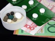 χρήματα ιατρικής Στοκ εικόνες με δικαίωμα ελεύθερης χρήσης