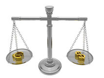 χρήματα ισορροπίας Στοκ Φωτογραφία