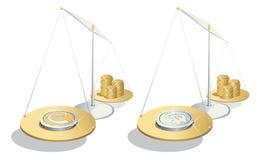 χρήματα ισορροπίας Στοκ Φωτογραφίες