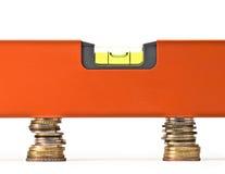 χρήματα ισορροπίας Στοκ εικόνα με δικαίωμα ελεύθερης χρήσης