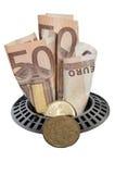 Χρήματα κάτω από τον αγωγό Στοκ φωτογραφίες με δικαίωμα ελεύθερης χρήσης