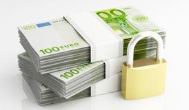 Χρήματα και ασφάλεια Στοκ Εικόνες