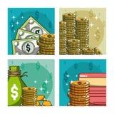 Χρήματα και επένδυση Στοκ Εικόνες