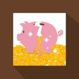 Χρήματα και επένδυση Στοκ Εικόνα