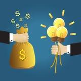 Χρήματα και ιδέα απεικόνιση αποθεμάτων