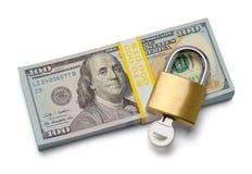 Χρήματα και κλείδωμα στοκ φωτογραφία με δικαίωμα ελεύθερης χρήσης