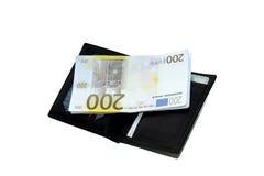 Χρήματα και πορτοφόλι Στοκ Εικόνα