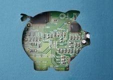 Χρήματα και τεχνολογία Στοκ Εικόνες