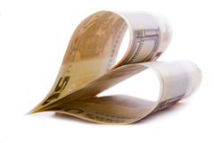 χρήματα καρδιών Στοκ εικόνα με δικαίωμα ελεύθερης χρήσης