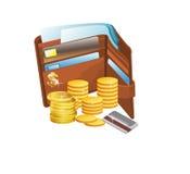 χρήματα καρτών Στοκ Εικόνα