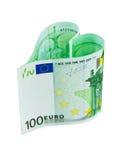 χρήματα καρδιών Στοκ Φωτογραφία