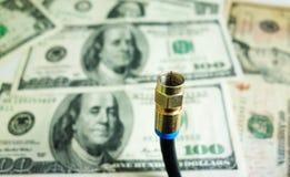 Χρήματα καλωδίων Στοκ εικόνες με δικαίωμα ελεύθερης χρήσης