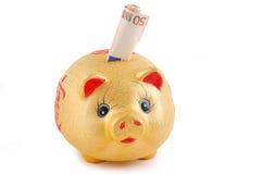 χρήματα κιβωτίων κίτρινα Στοκ φωτογραφία με δικαίωμα ελεύθερης χρήσης