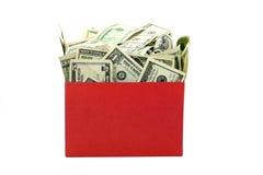 χρήματα κιβωτίων Στοκ εικόνα με δικαίωμα ελεύθερης χρήσης