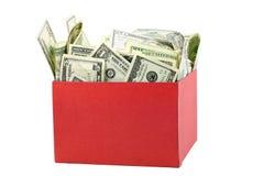 χρήματα κιβωτίων Στοκ Φωτογραφία