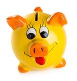 χρήματα κιβωτίων piggy Στοκ εικόνες με δικαίωμα ελεύθερης χρήσης