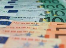 χρήματα κινηματογραφήσεων σε πρώτο πλάνο Στοκ Εικόνες