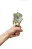 χρήματα λαβής στο σας Στοκ Εικόνες