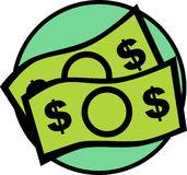 χρήματα λογαριασμών Στοκ Εικόνα