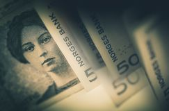 Χρήματα μετρητών κορωνών της Νορβηγίας στοκ φωτογραφία με δικαίωμα ελεύθερης χρήσης