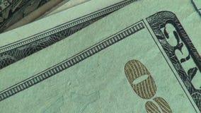 Χρήματα, νομίσματα, Bill, νόμισμα, Ηνωμένες Πολιτείες της Αμερικής απόθεμα βίντεο
