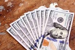 Χρήματα λογαριασμών δολαρίων Στοκ εικόνα με δικαίωμα ελεύθερης χρήσης