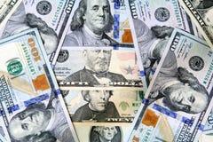 Χρήματα λογαριασμών δολαρίων Στοκ Φωτογραφίες
