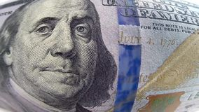 χρήματα λογαριασμών 100 δολαρίων απόθεμα βίντεο