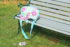 Χρήματα πεσμένος από μια τσάντα Στοκ εικόνα με δικαίωμα ελεύθερης χρήσης