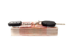 χρήματα πλήκτρων αυτοκινήτ Στοκ φωτογραφία με δικαίωμα ελεύθερης χρήσης