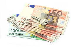χρήματα πλήκτρων Στοκ Φωτογραφίες