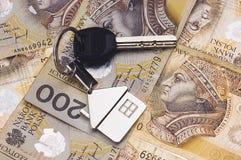 χρήματα πλήκτρων Στοκ εικόνες με δικαίωμα ελεύθερης χρήσης