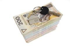 χρήματα πλήκτρων Στοκ εικόνα με δικαίωμα ελεύθερης χρήσης