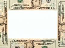 χρήματα πλαισίων στοκ εικόνα
